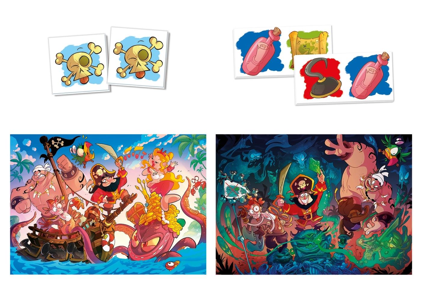 Puzzle SuperKit 2x30+Memo+Domino: Ahoy Pirates! (20266)