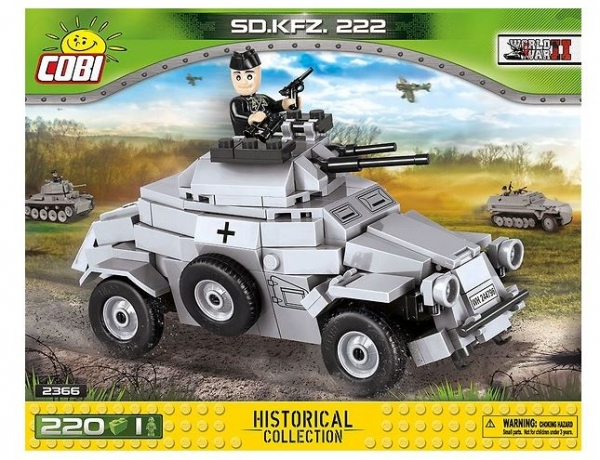 Cobi: Historical collection. World War II. SD.KFZ 222 - lekki samochód pancerny (2366)