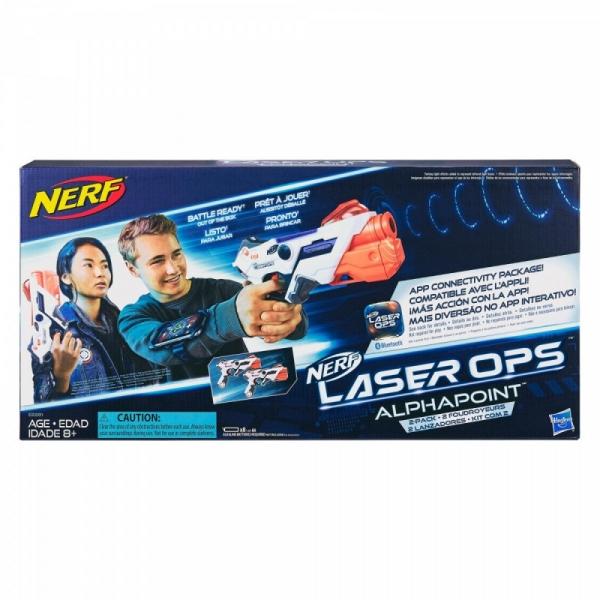 Pistolety Nerf Laser Ops Alphapoint Dwupak (E2281)