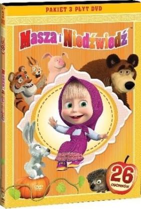 Masza i Niedźwiedź. Części 1-3 (3 DVD)
