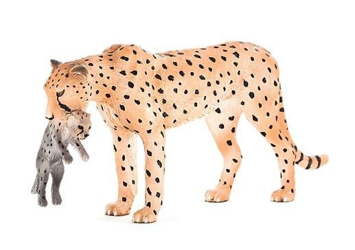 Samica geparda z młodym ANIMAL PLANET