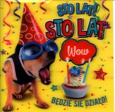 Karnet urodziny 3D K-3D-25 .