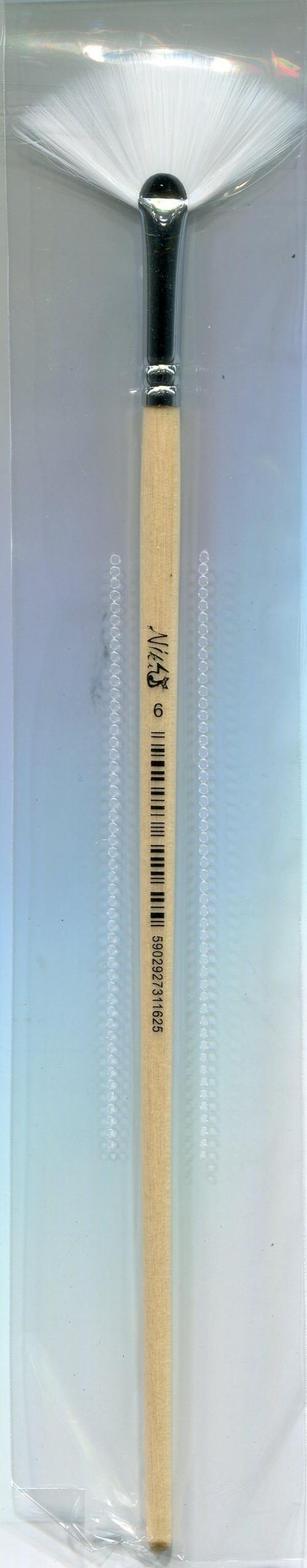 Pędzle nylonowe Niki-4 wachlarzowy nr 6, 12 sztuk
