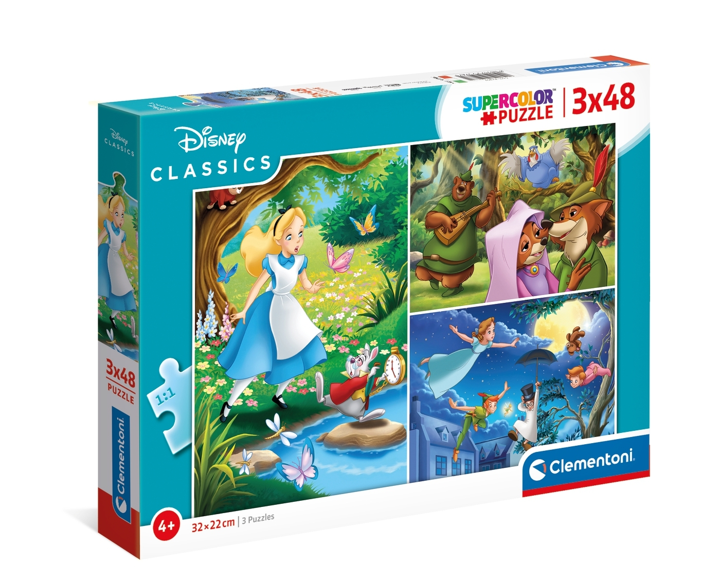 Puzzle SuperColor 3x48: Disney Classic (25267)