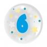 """Balon 45 cm - """"Cyfra 6"""" niebieski (TB 3606)"""