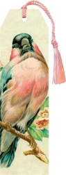 Zakładka 67 ze wstążką Ptak pastele