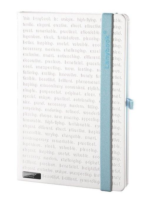 Notes A5 Lanybook The One biały w kratkę z niebieską gumką kratka