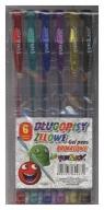 Długopisy żelowe brokatowe Fun&Joy 6 kolorów (220235)