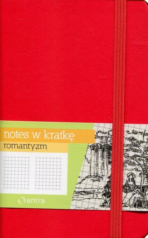 Notes w kratkę A6 Romantyzm czerwony