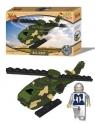 Klocki Best Lock 33 elementów Helikopter Military zielony