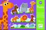Puzzle tekturowe Zwierzęta duże i małe (DJ08167)