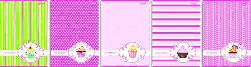 Zeszyt A5 w 3 linie 16 kartek linia Cupcake
