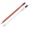 Ołówek Zenith Basic trójkątny z gumką HB (206315001) mix