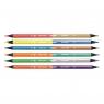 Kredki ołówkowe Milan BICOLOR FLUO + METAL COLOURS 1131 trójkątne, 6 szt., 12 kolorów w przezroczystym opakowaniu (07123306)
