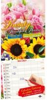 Kalendarz 2021 Kwiaty z naklejkami