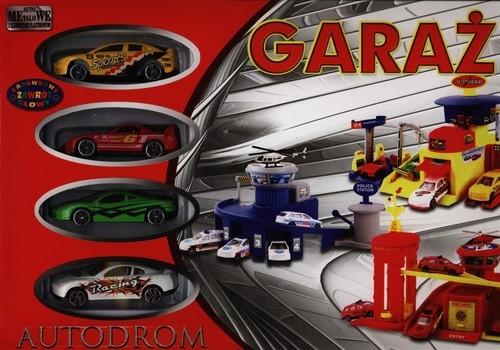 Garaż Autodrom +  4 pojazdy  (00267)