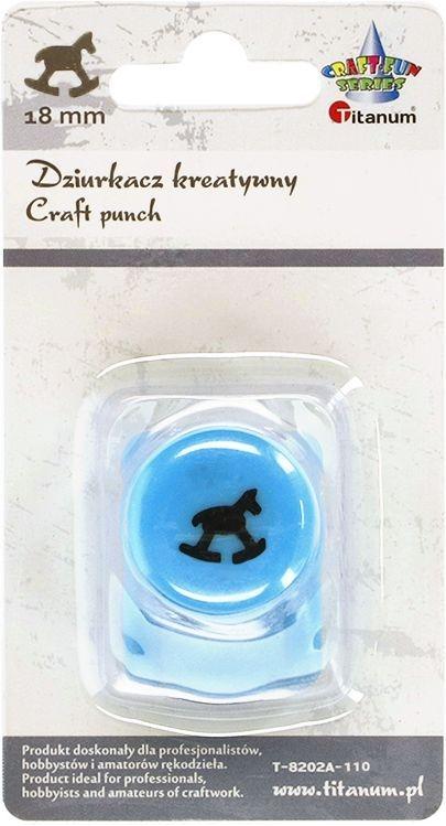 Dziurkacz Titanum Craft-fun kreatywny 18mm konik na biegunach niebieski