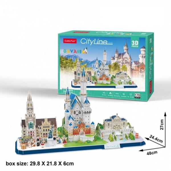 Puzzle 3D: Cityline - Bawaria