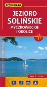 Jezioro Solińskie Myczkowieckie i okolice mapa turystyczna 1:25 000