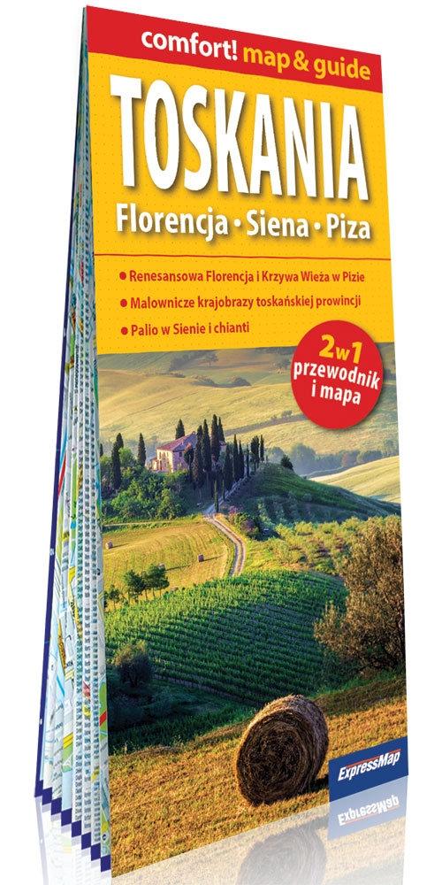 Toskania Florencja Siena Piza 2w1 przewodnik i mapa
