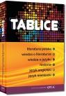 Tablice: literatura polska, wiedza o literaturze, wiedza o języku, historia, język angielski, język niemiecki