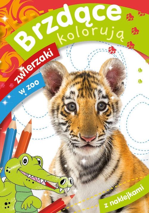 Brzdące kolorują zwierzaki w zoo Zofia Zabrzeska