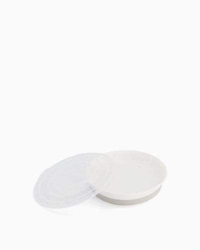 Twistshake Talerz z Pokrywką 6m+ Białyy
