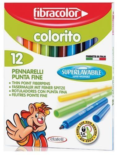 Pisaki Colorito 2,6mm 12 kol. FIBRACOLOR
