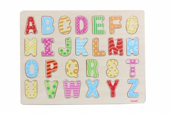 Układanka drewniana Wielkie litery Kolorowa (11005)