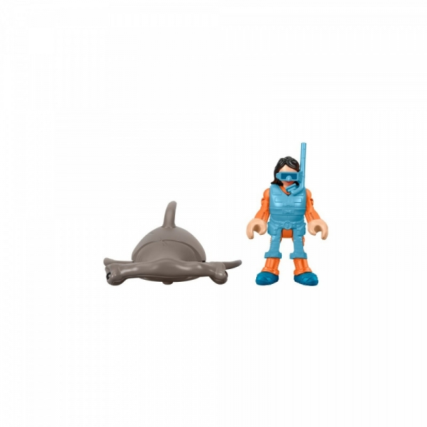 Figurka Imaginext + rekin młot (GKG82/GKG83)