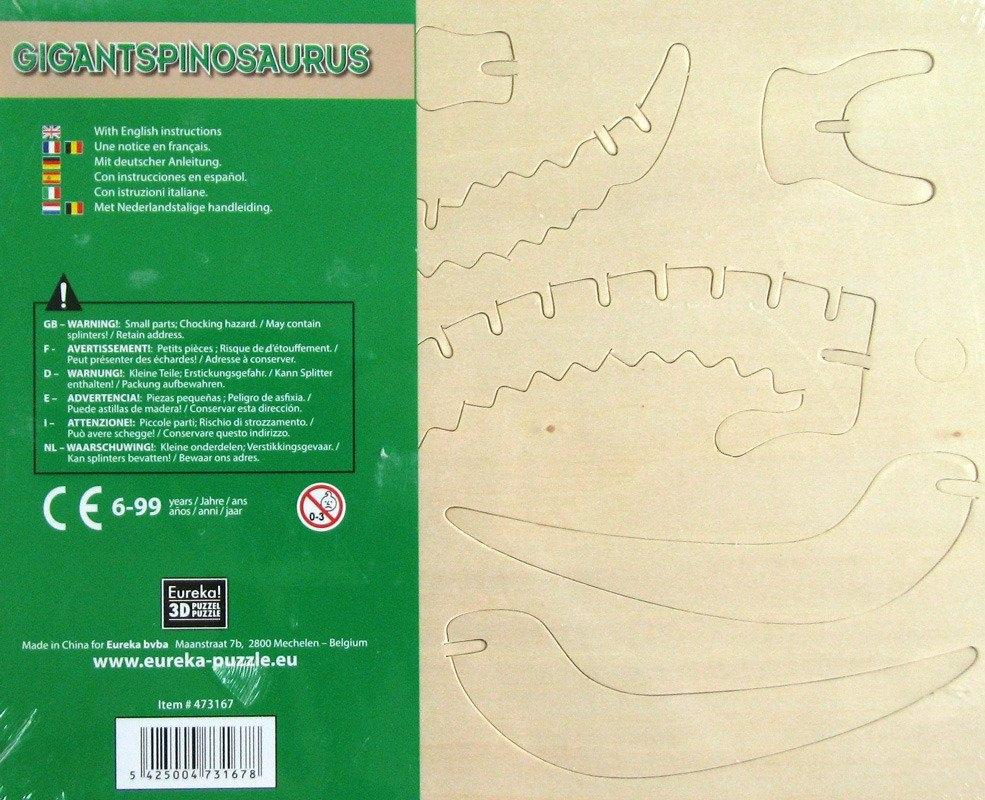 Łamigłówka drewniana Gepetto - Gigantspinozaur (106146)