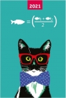 Kalendarz 2021 A6 tygodniowy Cat NARCISSUS