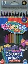 Kredki ołówkowe okrągłe metaliczne 10 kolorów (34678PTR)