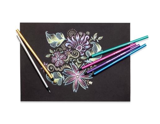 Kredki ołówkowe okrągłe metaliczne, 10 kolorów (34678PTR)