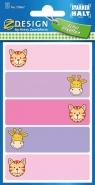 Naklejki na zeszyty - kot i żyrafa (59667)