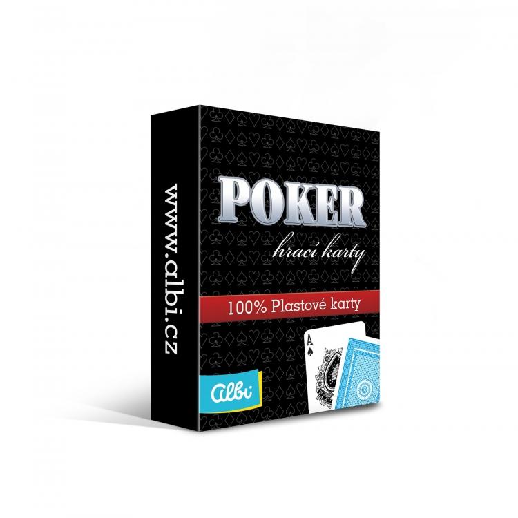 Poker plastikowe karty niebieskie (11424)