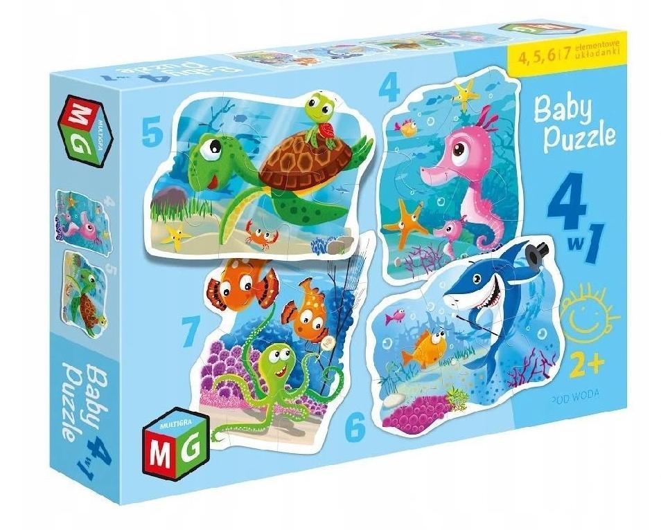 Baby Puzzle 4w1: Pod Wodą (0567)