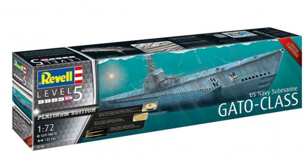Model plastikowy US Navy Submarine Gato Class Platinum (05168)