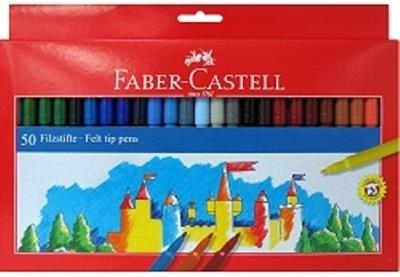 Flamastry 50 kolorów. Zamek (FC ) (554250)
