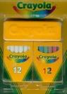 Zestaw kredy białej i kolorowej Crayola (Uszkodzone opakowanie) (98268)