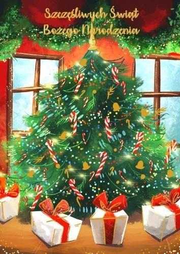 Karnet B6 Boże Narodzenie Choinka