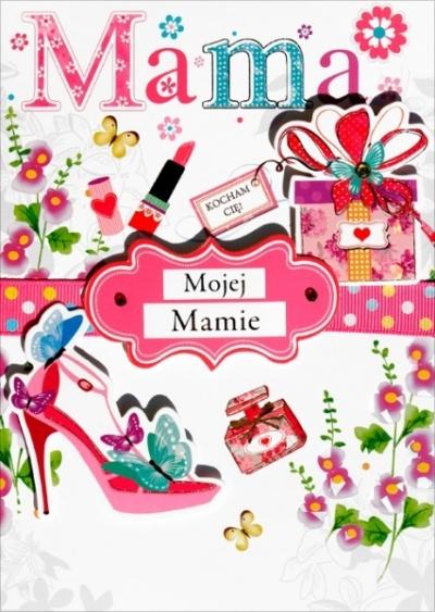 Karnet Mama - Kochanej Mamie .