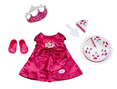 Ubranko dla lalki Baby born Deluxe Happy Birthday (820681)