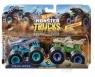 Hot Wheels Monster Trucks: Pojazdy 2-pak -  Mega Wrex vs Leopard Shark