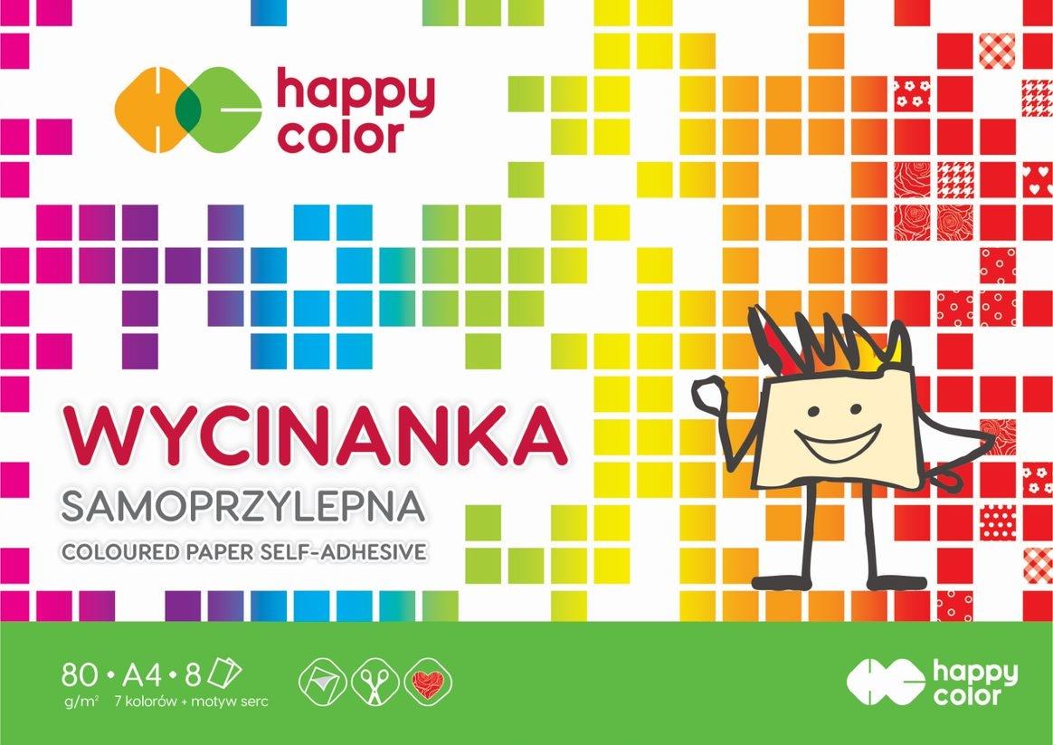 Blok wycinanka samoprzylepna Happy Color A4/8k (HA 3710 2030-S8)