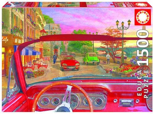 Puzzle Paryż zza szyby samochodu 1500