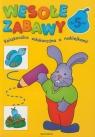 Wesołe zabawy Książeczka edukacyjna z naklejkami