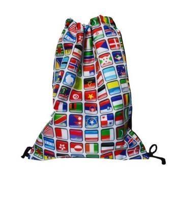 Worek szkolny plecak WR127 Flagi MESIO