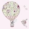 Karnet Swarovski kwadrat Ślub balon