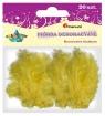 Piórka dekoracyjne Craft Fun żółte 20 sztuk (283016)